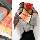 Winter Scarf, Shawl, Plaid Pattern, A1848