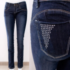 B16840 Women Jeans, Push Up pants, with Studs