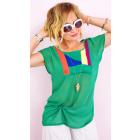 A1991 Women's Plus Size Blouse, Sorbet Colors