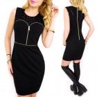 C24200 Wonderful, Black Dress, Glamorous Sequins