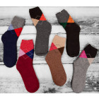 SOF16 Frauen warme Socken, Angora, Diamanten, 39-4