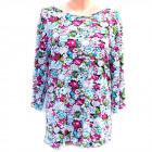 Tunique femme ample, motif fleurs, M - 3XL, 5226