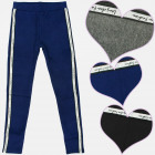 A19158 Girls Leggings, Pants, Glitter Stripe