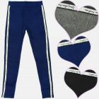 A19158 Girls Leggings, Pants, Glitter Stripe