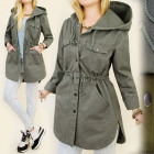 BI283 LONG, SPRING JACKET, STEEL, HIPSTER