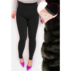 4385 Bamboo Leggings With Fur, High S