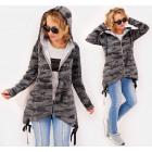BI767 Sweatshirt Jacket, Hooded Cardigan, Moro