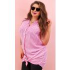 EM80 Loose, Light Striped Shirt, Sexi Look