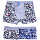 Cotton Boxer Shorts, L-3XL, American, 5164