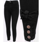 B16767 Charming Women Jeans with Bows, Black
