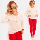 M03 Loser Sweater, Elegante Tunika, Klassischer Lo