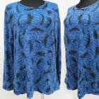 Bluse, Große Größe, Muster, M-3XL, K2712