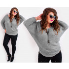 A835 Women's Oversized Sweater, Loose Sleeve,