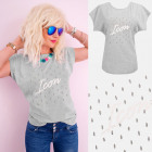 A880 Cotton Women T-Shirt , Top, Gray Icon, Gray