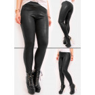 Warm Leggings, Pants, Black Leather, Mat, S-XL