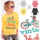 A869 Women Sweatshirt, Print: Shabby Romantic