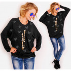 R109 Comfortable Tunic Oversize: Silver Bows