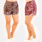 C17602 Women Summer Shorts, Loose Fit, Leopard