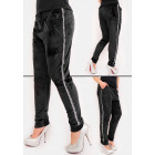 C17538 Sweatpants with Velor, Silver stripes