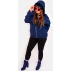 EM01 Women's Hoodie Oversize, Dark Blue