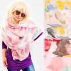 FL704 Spring Scarf, Shawl, Colorful Pattern