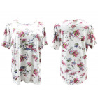 Blouse, Women Shirt, Spring Flowers, L-4XL, 5412