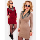 EM73 Elegant Dress + Silk shirt, Set