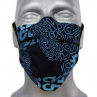 Protective face mask, blue-print, elastic band