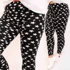 D26137 Comfortable Leggins, Plus Size, Black White