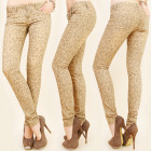 B16556 Hervorragende Jeans, Tubes, Animal Pattern