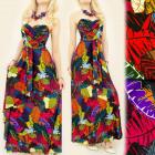 C17115 Great Long Dress, Tropical Pattern
