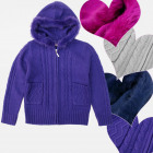 A19165 Girls Sweater, Hood With Fur, 4-12 years
