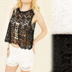 FL507 Lovely Top, Blouse, Beautiful Lace, Openwork