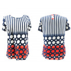 Blouse Women, Plus Size, Stripes & Dots, 5424
