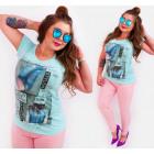 G1205 Bawełniane T-Shirt Women, Chic Fashinable