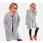 A842 Long Women Cardigan, Oversize Sweater