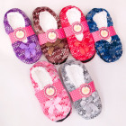 Velor Ballerina Slippers 35-42, Zigzags, 4916