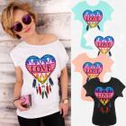 Women Shirt, Cotton, Colorful Love, S-L, K630