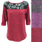 Soft Tunic, Blouse with Lace S-XL, R156