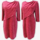 D4011 Dress, Made In Poland, 44-52, Raspberry