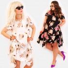 C17558 Loose Dress, Tunic, Plus Size, Feathers