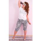 D26122 Loose Pants, 1/2 Length, Plus Size