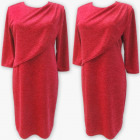 D4001 Dress, Made In Poland, 44-52, Red