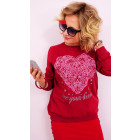 A825 Casual Women's Sweatshirt Print Your Live