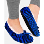 SOF21 Warm Womens Ballerina Slippers, Zebra Patter