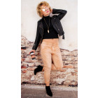 B16698 WomenJeans, Ombre, Baggy, Double Clasp