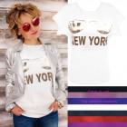 Chemise pour femme, chemisier, M-XL, New York, 544