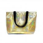 Women Large Bag, Golden Shopping Bag, A1884