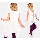 A833 Women Long Waistcoat, Oversize cardigan