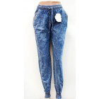 B386 plus fours, PANTS JEANS, QD-16530, with zips
